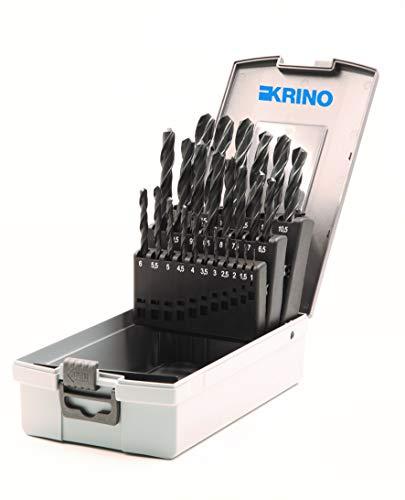 Krino 01016306 - HSS Set Punte Rullate Per Ferro - 25 Pezzi
