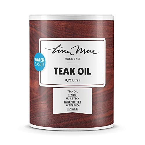 Aceite de Teka Con Acabado Natural al Agua - Protección y Restauración de la Madera Teca en Intemperie Ideal para Sillas y Mesas de Jardín, Tumbonas y Muebles (750 ml, Incoloro)
