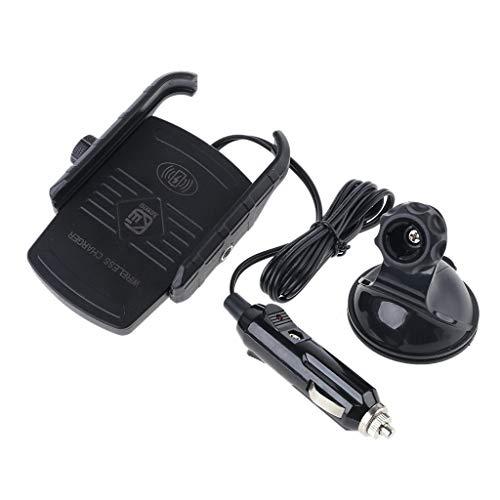 360 ° Qi inalámbrico coche succión Smartphone cargador rápido soporte soporte soporte cuna