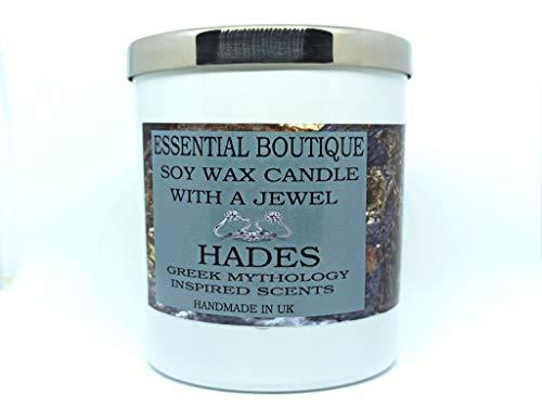 Essential Boutique Kerze mit Halskette Hades Jewel Candle Hades Griechischer Gott einzigartiger Duft