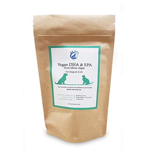 Mr Ros Marine Phytoplankton Vegan DHA & EPA from Micro Algae Food Supplement Powder for Dogs & Cats- 60 Grams (2.12 Oz) up to 120 Servings