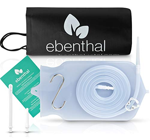 Enemas anales Premium EBENTHAL VITAL® • 2l para limpieza de colon con bolsa práctica e instrucciones • Enema anal • Juego de alimentación para el ayuno