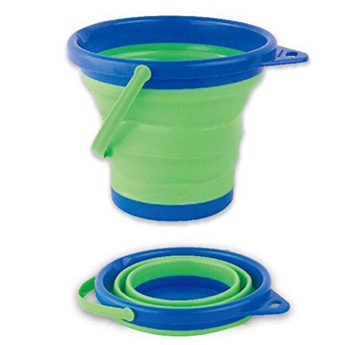 Jackallo Zusammenklappbarer Eimer 2. 5L Faltbarer Eimer Eimer Zusammenklappbarer Eimer Wasserbehälter für Strandwanderungen im Freien Camping