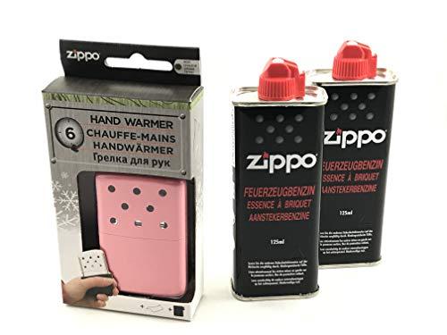 Zippo Handwärmer Lady Premium Set Taschenwärmer Pink klein 6 Stunden Laufzeit + 2 x Benzin