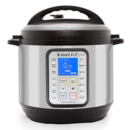 Instant Pot DUO Plus 60, 6 Qt 9-in-1 Multi- Use Programmable Pressure Cooker, Slow Cooker, Rice...