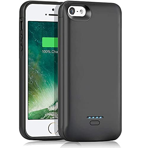 """Battery Case for iPhone 5/5S/SE (4.0 inch), 4000mAh Slim Charger Case Rechargeable Portable Case Extended Battery Charging Case for iPhone 5/5S/SE Protective Backup Power Case (4.0"""") (Not Fit 2020 SE)"""