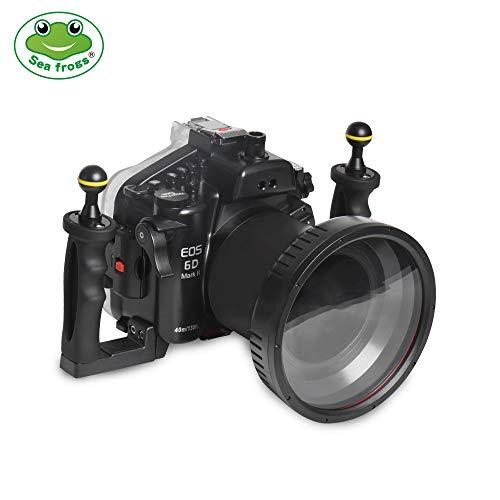 Sea Ranas para Canon 6D2 24-70mm 130ft/40m Carcasa para cámara submarina