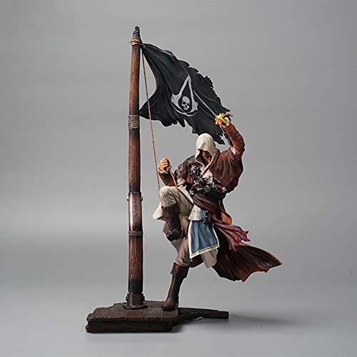 huanghuang Assassins Creed 4: Bandera Negro Edward James Kenway Acción PVC Figura