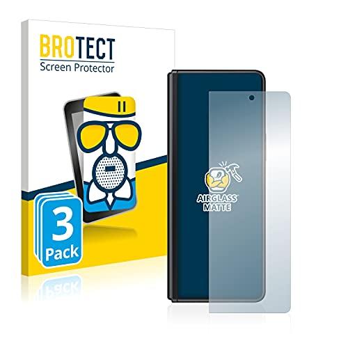 BROTECT Entspiegelungs-Panzerglasfolie kompatibel mit Samsung Galaxy Z Fold 3 5G (3 Stück) - Anti-Reflex Panzerglas Schutz-Folie Matt