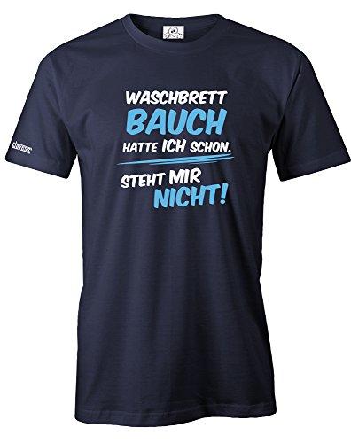 Jayess Waschbrettbauch - Hatte ICH Schon - Steht Mir Nicht - BLAU - Herren - T-Shirt in Navy by Gr. XXXL