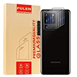 PULEN [4 Unidades] Protector de Lente de cámara para Samsung Galaxy S20 Ultra, Vidrio Templado [antihuellas] [película Resistente a los arañazos]