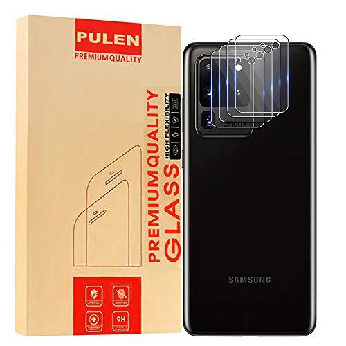 PULEN [4 Pack] Protettore Lente Fotocamera per Samsung Galaxy S20 Ultra, [Anti-Impronte] Vetro Temperato Senza Bolle Alta Definizione Anti-graffio Pellicola Protettiva