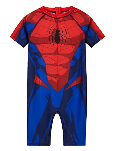 Spiderman und Hulk Badeanzug, Jungen Badeanzug 18 Monate - 8 Jahre, Kinder Neoprenanzug Gr. 2-3 Jahre, Rot Spiderman