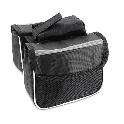 SASKATE Bolsa para cuadro de bicicleta, resistente al agua, tubo superior para manillar, bolsa para sillín de bicicleta, bolsa para marco frontal, soporte para teléfono, accesorios