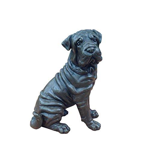 IUYJVR Dog Statue Sculpture, Bronze Sculpture Beagle Small Cold Cast Bronze Statue Sculpture Dog Pets Gift Idea Pet Gift Home Art Decoration