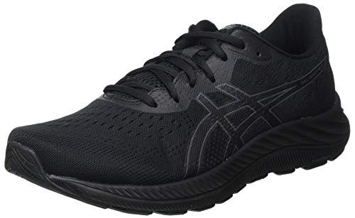 Asics Gel-Excite 8, Road Running Shoe Hombre, Black/Carrier Grey, 43.5 EU