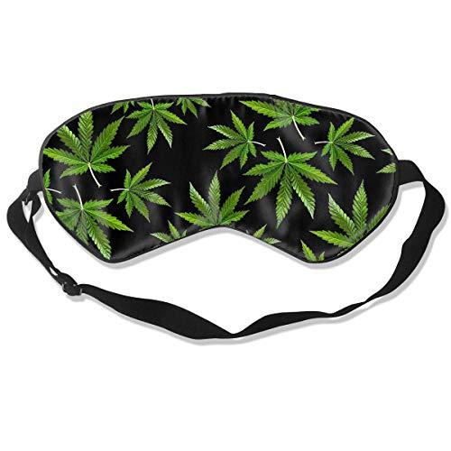 Antifaz para dormir con hojas de cáñamo y correa ajustable para la cabeza