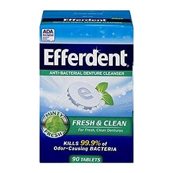 Efferdent Anti-Bacterial Denture Cleanser Tablets Mint 90 Count