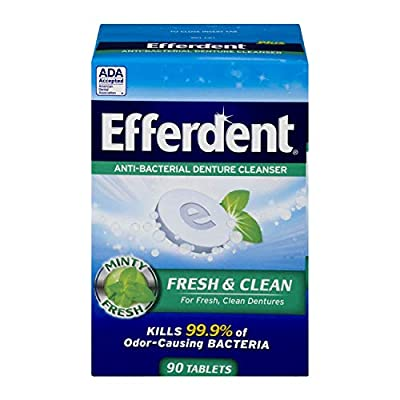 Efferdent Plus Mint Anti-Bacterial