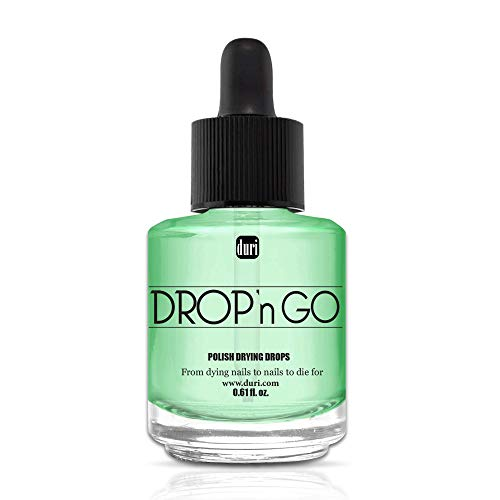duri DROP'n GO, Polish Drying Drops, Protect Polished Nails From Smudging, 0 .61 fl.oz. 18 ml.