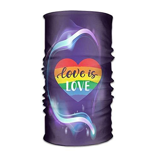 Voxpkrs LGBT Gay Pride Love Is Love Unisex Sport Scarf Headbands Bandana Outdoor Sweatband Headwear