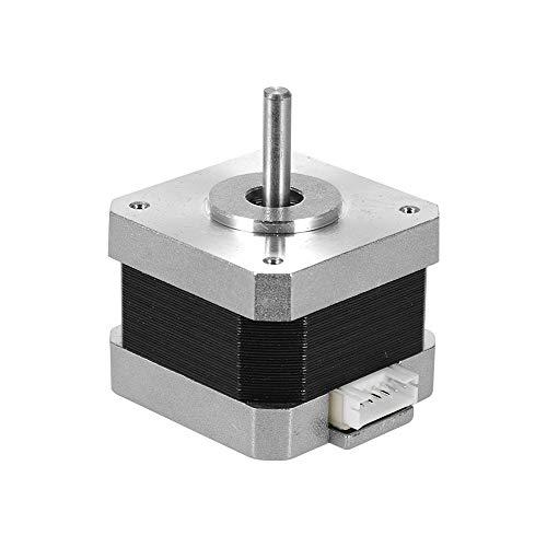 Aibecy Motor Paso A Paso Paso A Paso para impresora 3d creality 2 fases 0.8 A 1.8 grados 0.4nm para impresora 3d DIY accesorio CNC de recambio, 1 unidades