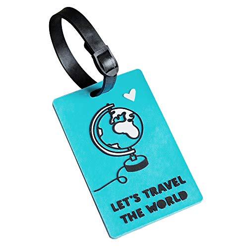 Odernichtoderdoch Koffertag Let's travel The World - Kofferanhänger für die Reise - für Taschen, Koffer und Rucksack