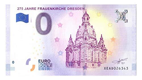 # 0 Euro Schein Deutschland 2018 · Frauenkirche Dresden · Souvenir o Null € Banknote