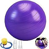 65Cm Balones De Ejercicio Pelota De Ejercicio Profesional Bomba De Aire Pelota De Ejercicio Anti Burst para Gimnasia Pelota De Estabilidad Anti-Estallido para Entrenamiento De Núcleo, Fisioterapia