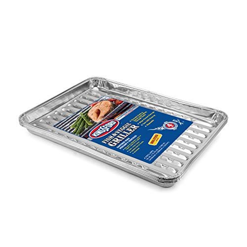 Kingsford Grilling Kingsford Fish and Veggie Aluminum Grill Liners, 8 Count, Silver | No More Food Falling Through Grill Grates | Kingsford Grill Accessories | Non-Stick Disposable Grilling Liners