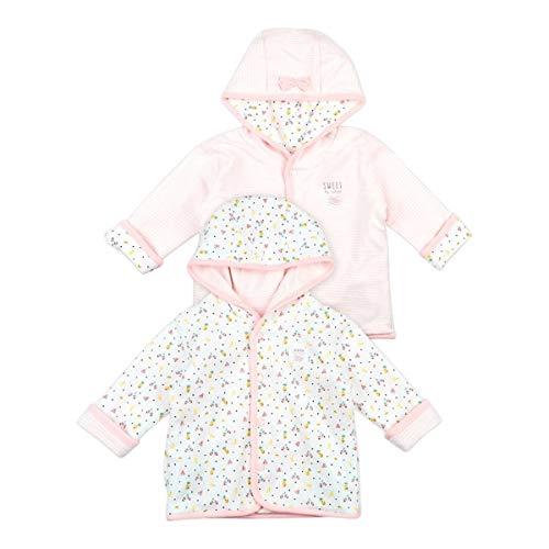 Feetje Veste réversible à capuche, rayures et fruits veste bébé vêtements bébé, rose/blanc