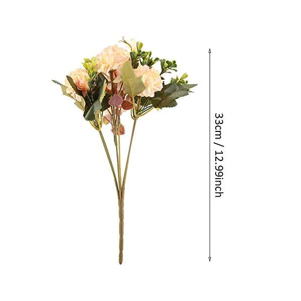 1 Pieza Bouquet Artificial Champagne Flores Artificiales Falsas Paquete de Bouquet de Crisantemo al aire libre para…