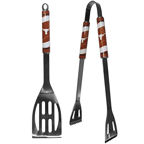 Siskiyou NCAA Sports Fan Shop Texas Longhorns 2 pc Steel BBQ Tool Set One Size Team Color