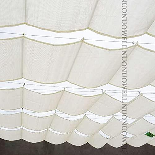 AEEYZ Pequeñas sombrillas toldos y sombrillas para jardín, pérgola, kits de pérgola con techo retráctil para jardín, tela para toldo y estanque