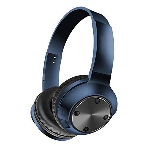 NBVC Wireless Headphones Bluetooth 5.0 Sport Headset Opvouwbaar Stereo hoofdtelefoon gaming koptelefoon met microfoon for pc Mobiele telefoons Mp3 (Color : Blue)