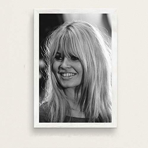zpbzambm Rahmenlose Leinwandbilder 40X50Cm,Sexy Brigitte Bardot Filmstar Schauspielerin Art Model Seidenmalerei Auf Leinwand Wandposter Home Decor Zp-921