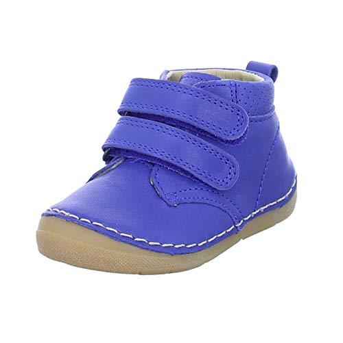 Froddo Kinder Halbschuh G2130188-1 Freizeitschuh Lederschuh Klettverschlus blau (Blue Electric) Größe 23 EU