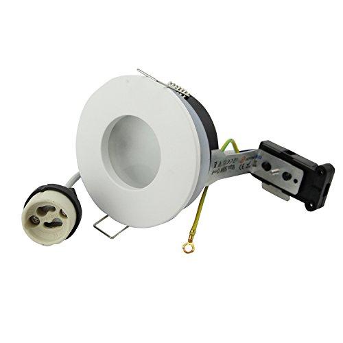 Foco empotrable redondo IP65 230 V GU10 soporte para bombillas LED y halógenas de 50 mm