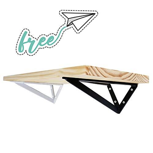 Shelf bracket LWMQ Soportes De EstanteríA (sin incluir el Tablero de Madera) -2 Piezas de Soportes Creativa de estantería Tipo avión de Papel Infantil (Negro/Blanco)