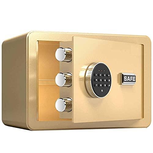 Mini caja de seguridad digital electrónica con 2 llaves, caja de seguridad...