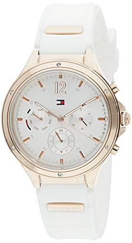 Tommy Hilfiger Reloj Analógico para Mujer de Cuarzo con Correa en Silicona 01782280
