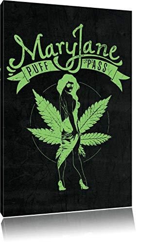 Dark Mary Jane black Bild auf Leinwand, XXL riesige Bilder fertig gerahmt mit Keilrahmen, Kunstdruck auf Wandbild mit Rahmen, günstiger als Gemälde oder Ölbild, kein Poster oder Plakat, Format:80x60 cm