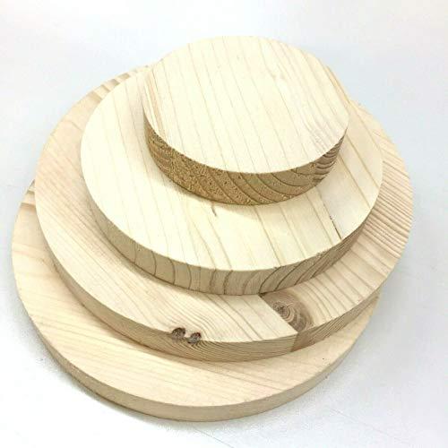 Sticker Design Shop Runde Holzscheibe Rund Holz Fichte Leimholz Platte 18mm 40-600mm (120mm)