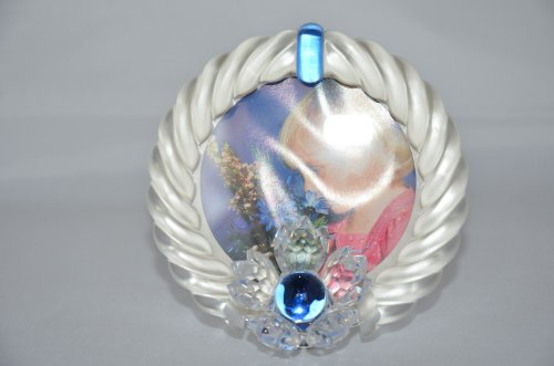 Swarovski Bilderrahmen blau Blueten Picture frame blue flower 207892 AP 2000