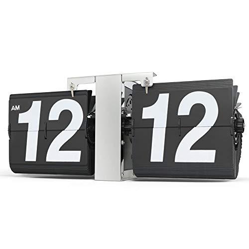 [Estilo retro del escritorio del tirón del estante de reloj - Visualización clásico mecánico-digital con pilas - Hogar y Oficina Decoración 14 x 5,5 x 3,5 pulgadas Jzx-n ( Size : Large 14x5.5 inch )