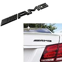 FUZUI 外装 AMGエンブレム3DABSブラックトランクロゴバッジデコレーションギフトと互換性のあるメルセデスベンツ、ブラック (Color : Black)