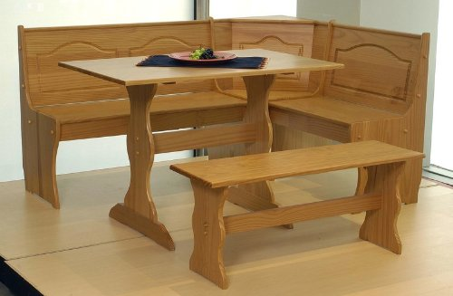 Big Sale Best Cheap Deals Solid Pine Nook Dining Table Set - Chelsea Honey Finish