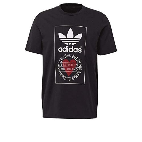 Adidas Graphic - Camiseta, Todo el año, Redondo, Mujer, color negro, tamaño L