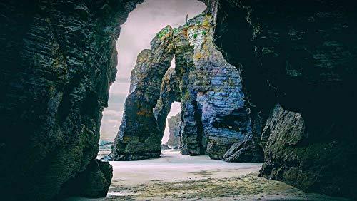 CZYSKY Playa De Las Catedrales, Galicia, España, Rompecabezas De 1000 Piezas Puzzle Juguete De Madera (75 * 50 Cm)