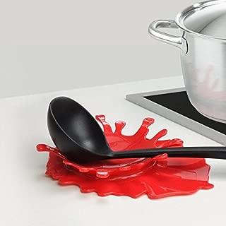 ANZYDEAL Creative Design Splattering Blood Kitchen Spoon Holder Tomato Sauce Spoon Rest Organizer